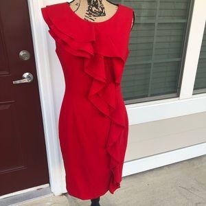 EUC Red Calvin Klein Dress